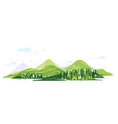 Travel to mountains isolated composition vector