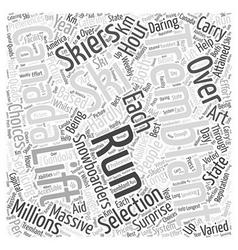 Tremblant In Canada Word Cloud Concept vector