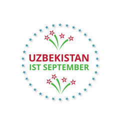 uzbekistan 1st september happy independence day vector image