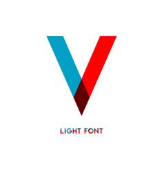 V light font template design vector