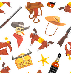 wild west seamless pattern design element can vector image