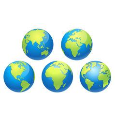 world globe earth map vector image