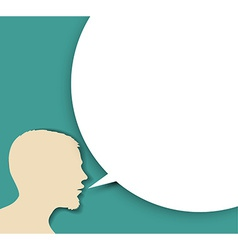 Abstract speaker silhouette with big empty bubble vector image vector image