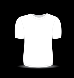 Blank t shirt white template vector image