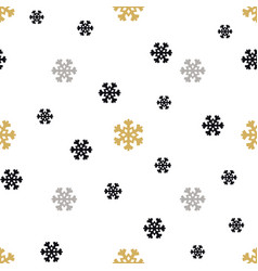 christmas snowflakes background in different color vector image