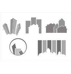 Construction real estate icons vector image