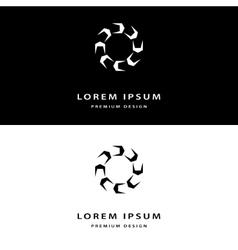 Creative icon monogram design elements with vector image vector image
