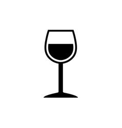 elegant wineglass symbol vector image