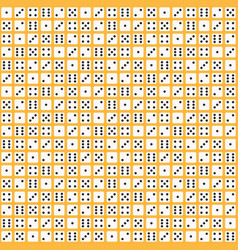 flat dice pattern seamless background vector image