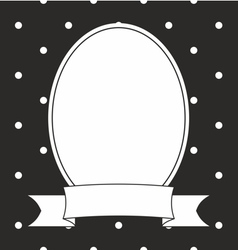 Hand drawn photo frame and white polka dots vector image vector image