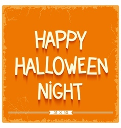 Happy Halloween Night poster vector image