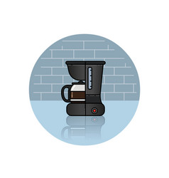 icon of coffee machine vector image vector image