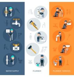 Plumber Vertical Banner vector image