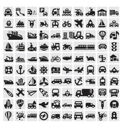 big transportation icons vector image