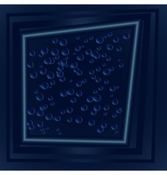 dark blue drops frame vector image