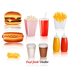 fast food products vector image