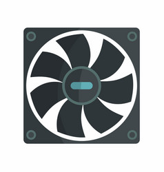 flat hardware cooler icon for repair service vector image