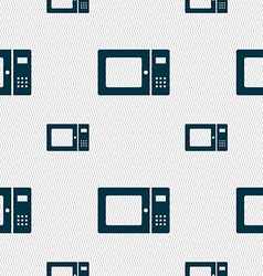 microwave icon sign Seamless pattern with vector image vector image