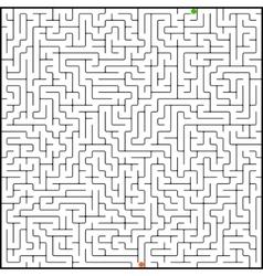 perfect maze vector image