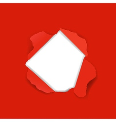 Red Torn vector image