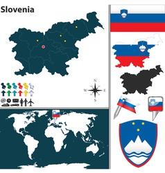 Slovenia map world vector image vector image