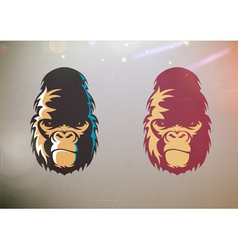 stylized gorilla smirk face vector image vector image