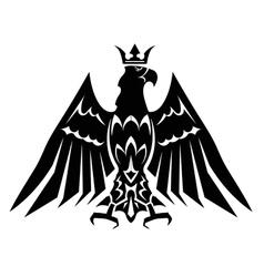Black heraldic eagle crown vector image vector image