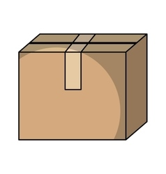 box carton container isolated icon vector image vector image