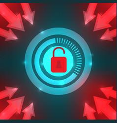 dangers computer virus and hackers vector image