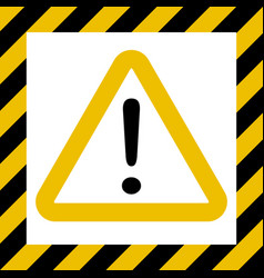 hazard sign exclamation warn caution construction vector image vector image