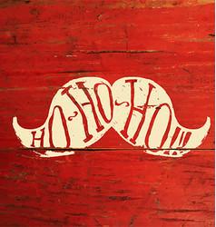 Ho-Ho-Ho Merry Christmas Postcard Design On Red vector image vector image