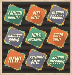 Set of retro design elements vector image