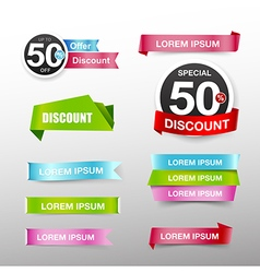 038 Collection of colorful web tag banner vector image vector image