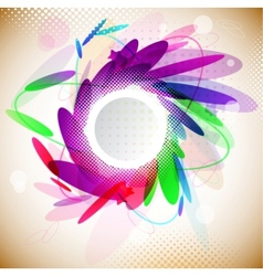 abstract floral frame vector image vector image