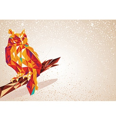 Colorful Owl bird vector image