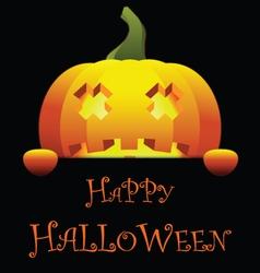Happy Halloween with Isolated Pumpkin vector image vector image