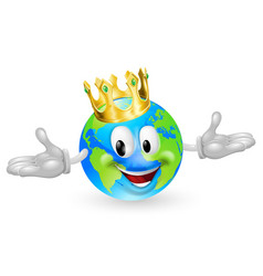 king of the world mascot vector image