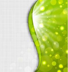 Abstract green background with bokeh effect vector