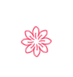 abstract mono line flower logo designs vector image