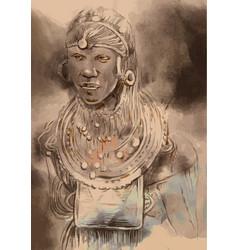 African portrait vector