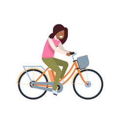 African woman riding electric bike over white vector