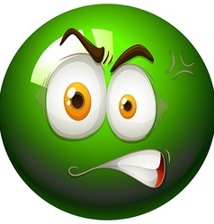 Angry face on snooker ball vector