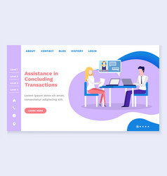 Assistance in concluding transactions website vector