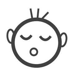 Baby sleeping icon vector