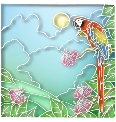 Batik parrot vector