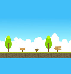 Beauty landscape game background style vector