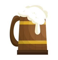 beer in wooden jar vector image