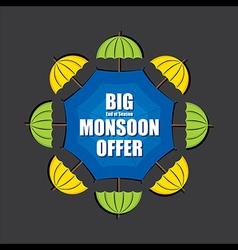 Big end of season monsoon offer banner design vect vector