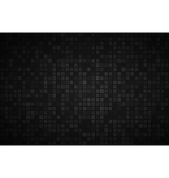 Black abstract background with transparent squares vector image