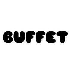 Buffet stamp on white vector